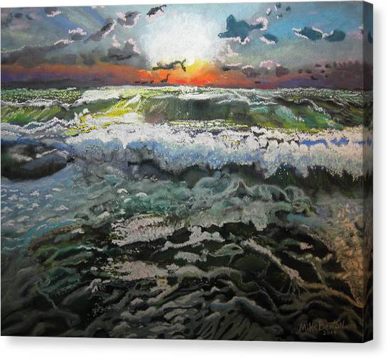 Angry Ocean Canvas Print