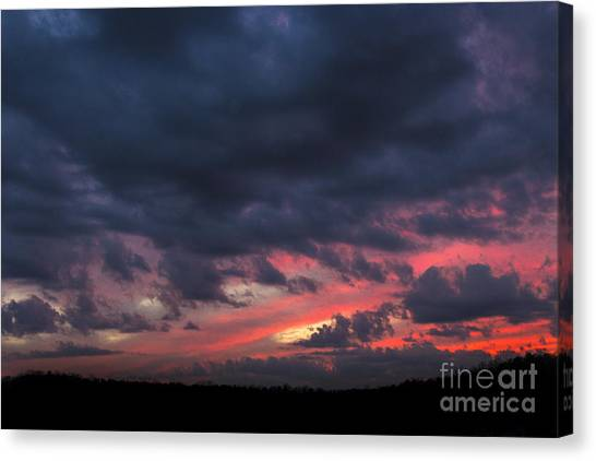 Angry Sunset Canvas Print