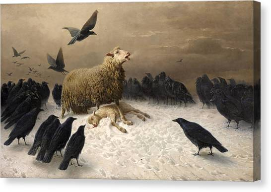 Canvas Print featuring the painting Anguish by August Friedrich Schenck