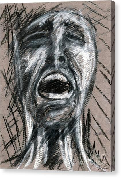 Anguish Canvas Print by Jessica Sturges