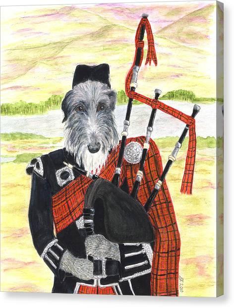 Angus The Piper Canvas Print