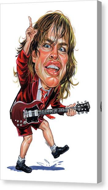 Ac Dc Canvas Print - Angus Young by Art