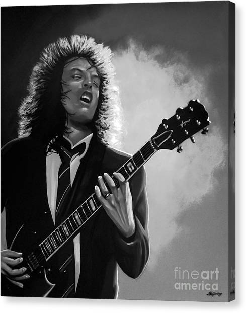 Ac Dc Canvas Print - Angus Young by Meijering Manupix