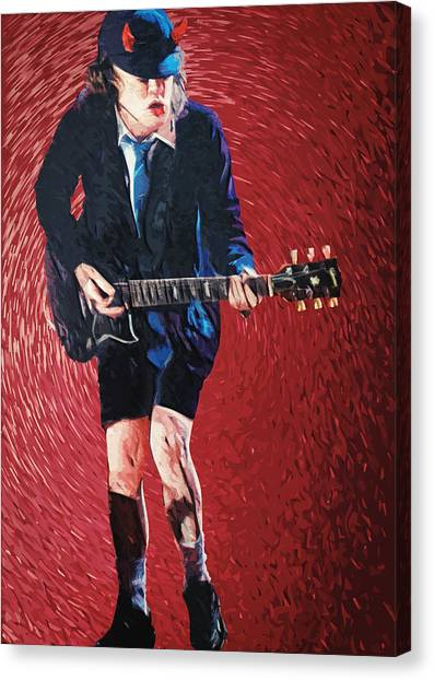 Ac Dc Canvas Print - Angus Young by Zapista