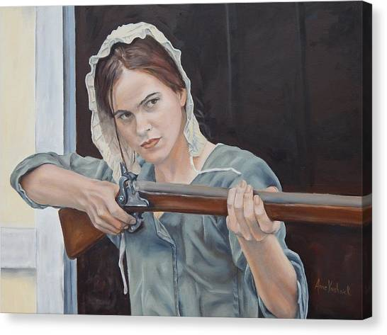 Canvas Print - Ani Get Your Gun by Anne Kushnick