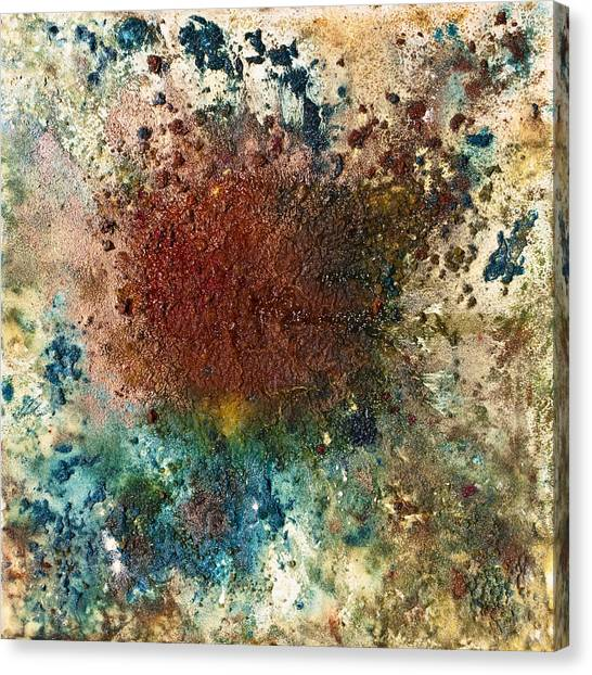 Lyrical Abstraction Canvas Print - The Voyage Of Yoni by Sora Neva