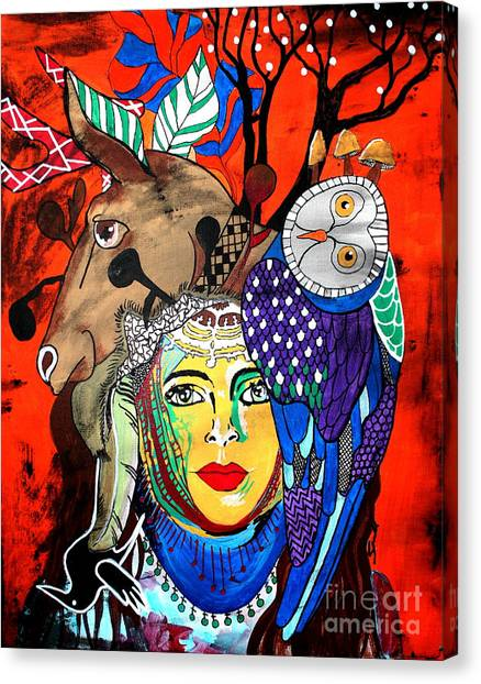 Animal Basket Canvas Print