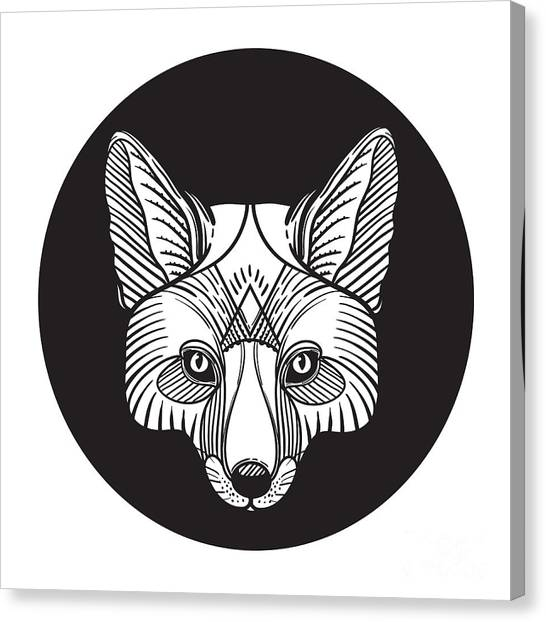 Magician Canvas Print - Animal Fox Head Print For Adult Anti by Vavavka