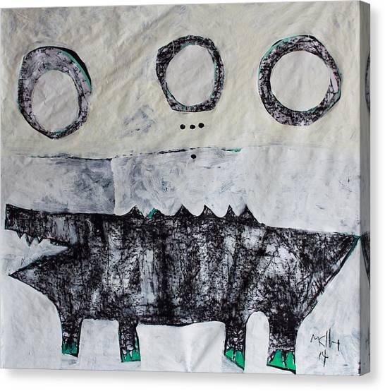 Crocodiles Canvas Print - Animalia Cocodrillus No. 3 by Mark M  Mellon