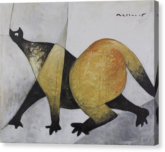 Cubism Canvas Print - Animalia Prowling Cat  by Mark M  Mellon