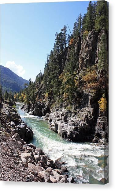 Colorado Rapids Canvas Print - Animas River by Daniel Hise