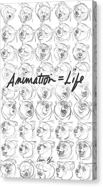 Hands Canvas Print - Animation  Life by Aaron Blaise
