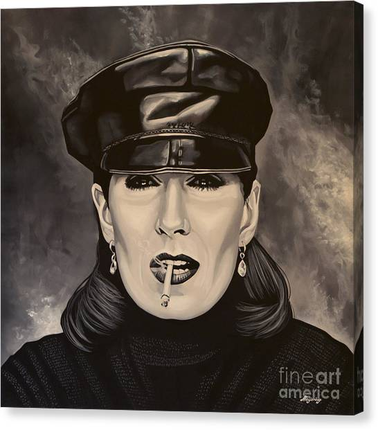 Cuckoos Canvas Print - Anjelica Huston by Paul Meijering