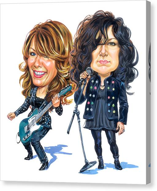 Caricatures Canvas Print - Ann And Nancy Wilson Of Heart by Art