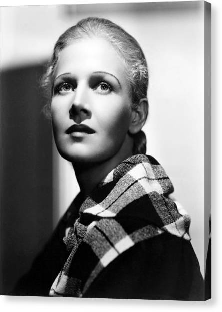 Bachelor Canvas Print - Ann Harding In Biography Of A Bachelor Girl  by Silver Screen