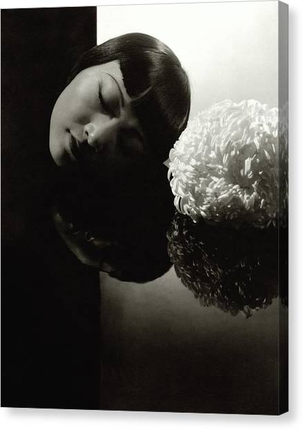 Anna May Wong Resting Her Head Canvas Print by Edward Steichen