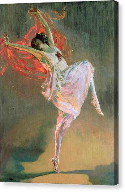 Dance Canvas Print - Anna Pavlova, 1910 by Sir John Lavery