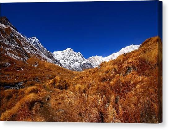 Himalayas Canvas Print - Annapurna South Ridge by FireFlux Studios