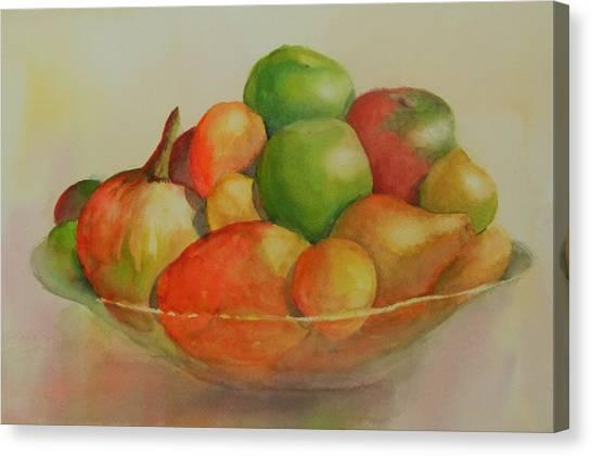 Anna's Fruit Bowl Canvas Print by Dorothy Nalls