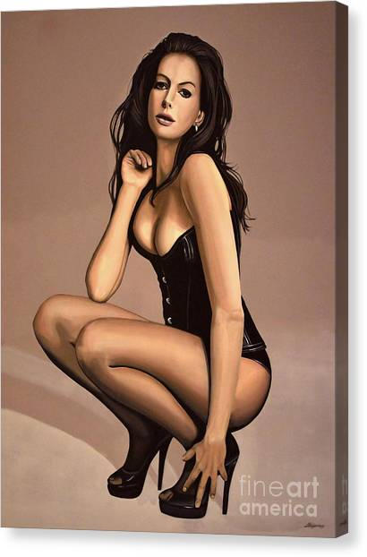 Knights Canvas Print - Anne Hathaway Painting by Paul Meijering