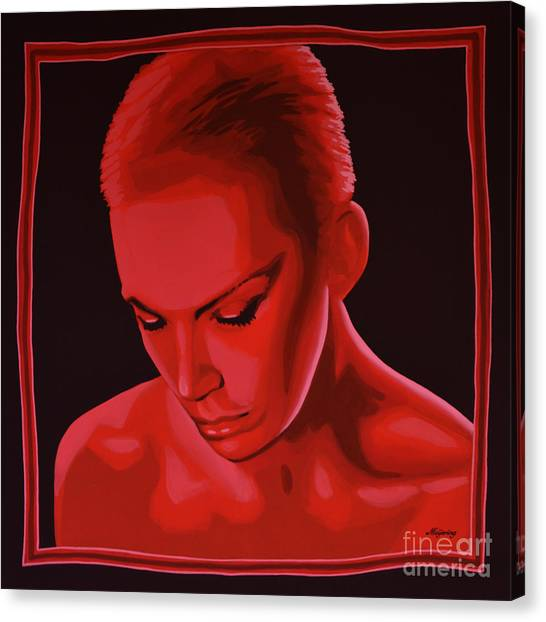Rhythm And Blues Canvas Print - Annie Lennox by Paul Meijering