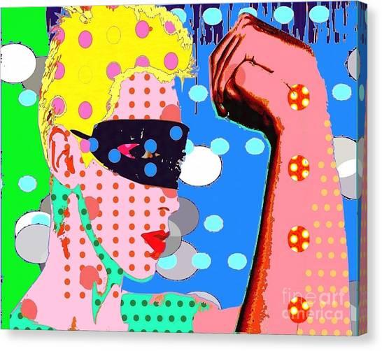 Annie Lennox Canvas Print by Ricky Sencion