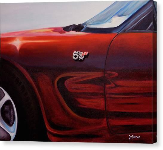 Anniversary Edition Corvette Canvas Print