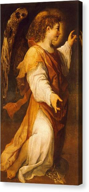 Unconscious Canvas Print - Announcing Angel by Annibale Carracci