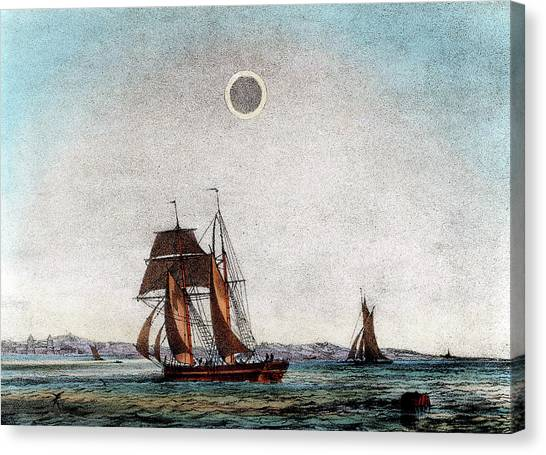 Causes Canvas Print - Annular Eclipse Of The Sun by Universal History Archive/uig