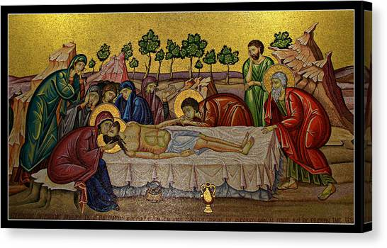 Byzantine Art Canvas Print - Anointing by Stephen Stookey