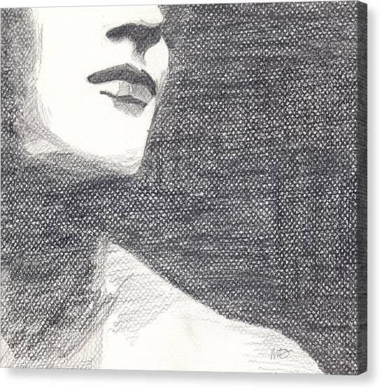 Anonymous Crop Canvas Print