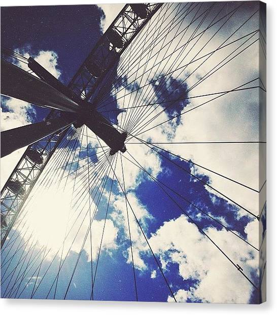 London Eye Canvas Print - The Eye by Kelsey David