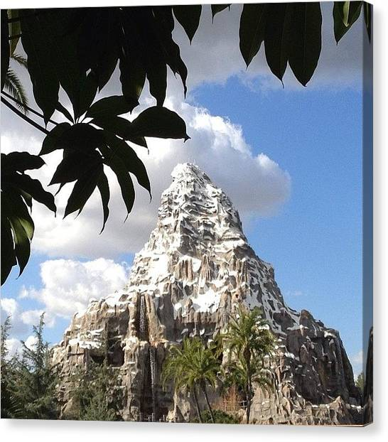 Matterhorn Canvas Print - Another Beautiful Day At #disneyland by Rainey Shafer