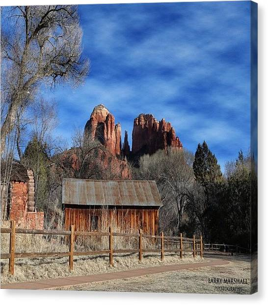 Another Beautiful Day During Our Canvas Print by Larry Marshall
