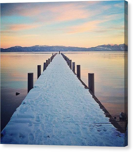 Lake Sunsets Canvas Print - Another Beautiful Shot By @danotis For by Sophia Christie