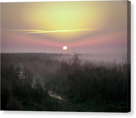 Another Dawn Over The Prairie Canvas Print