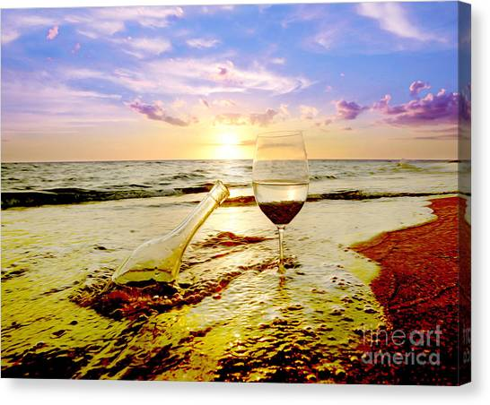White Wine Canvas Print - Another Day In Paradise  by Jon Neidert