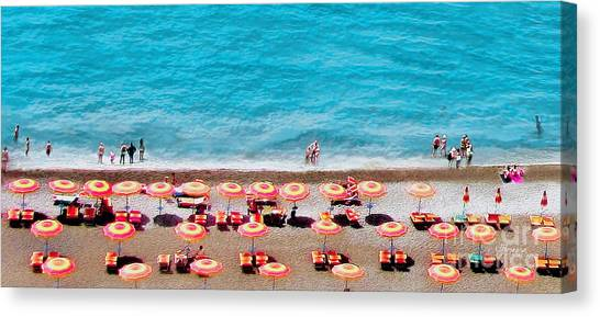 Another Day In Paradise-positano-digitized Canvas Print