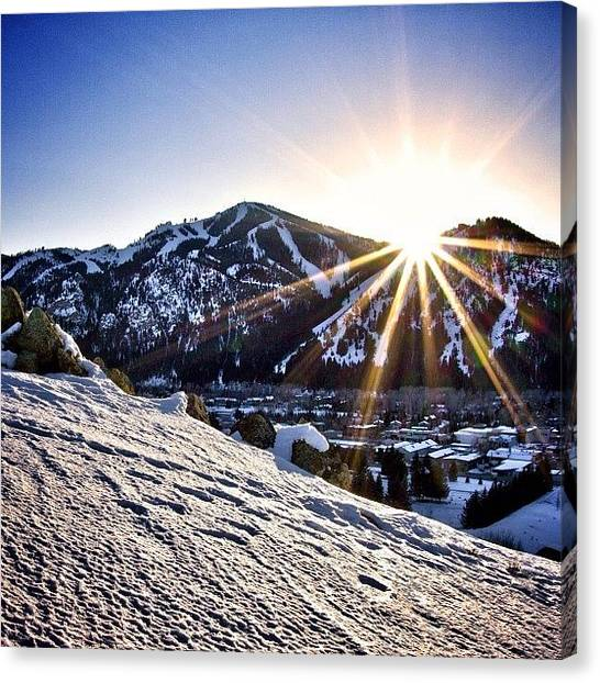 Idaho Canvas Print - Another Good Ol' #baldy #sunset This by Cody Haskell