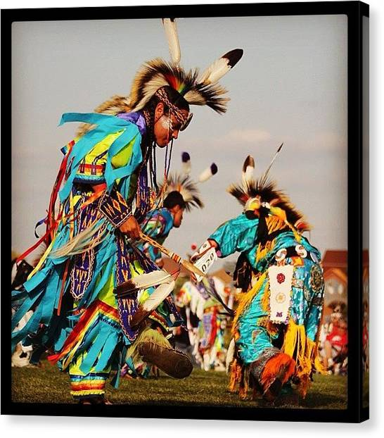 Landmarks Canvas Print - Weekend Wacipi by Heidi Hermes