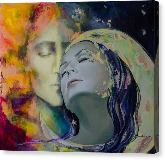 Kiss Canvas Print - Another Kind Of Rhapsody by Dorina  Costras