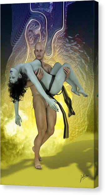 Atheism Canvas Print - Reverse Piety by Quim Abella