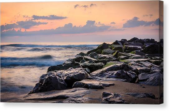 Canvas Print featuring the photograph Another Ocean Grove Sunrise by Steve Stanger