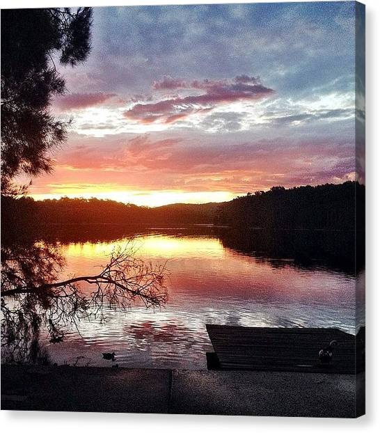 Lake Sunsets Canvas Print - Another Sunset... Ergh #lake #sun #set by Harry Brown