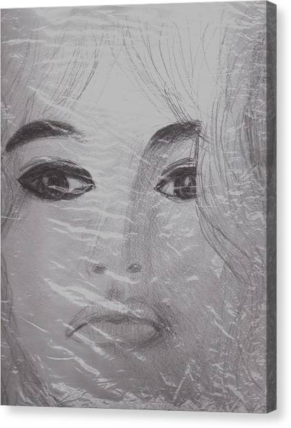 Sex Kitten Canvas Print - Another View Of Bardot by Anne-Elizabeth Whiteway