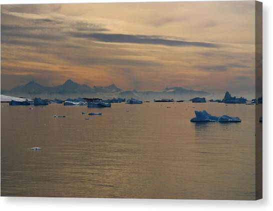 Antarctica Canvas Print - Antarctic Ice by FireFlux Studios