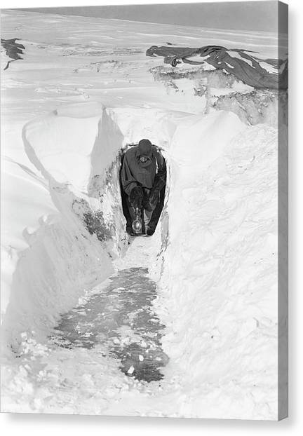 Ice Caves Canvas Print - Antarctic Magnetic Research by Scott Polar Research Institute