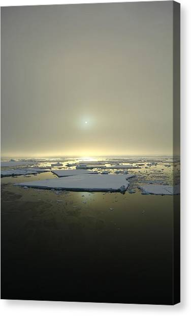 Antarctica Canvas Print - Antarctic Misty Sunset by FireFlux Studios