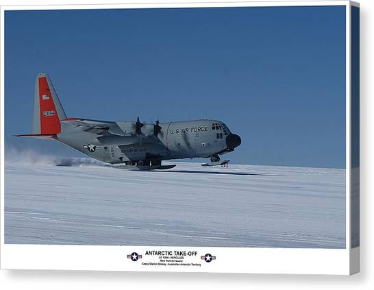 Antarctic Take-off Canvas Print by David Barringhaus
