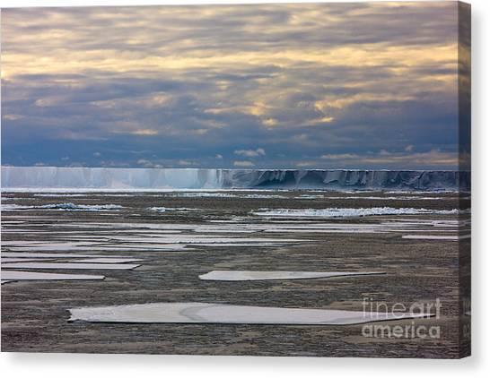 Antarctica Ross Ice Shelf Edge  Canvas Print